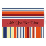 Your Name - Stripes (Parallel Lines) - Yellow Blue Greeting Card