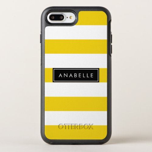 Your Name - Stripes (Parallel Lines) - Yellow Phone Case
