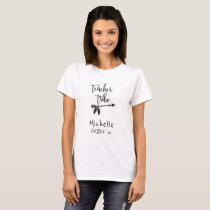 Your name student teacher tribe tribal script T-Shirt