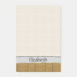 Your Name - Tatami Mat, Bamboo Planks - Brown Post-it Notes