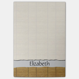 Your Name - Tatami Mat, Bamboo Planks - Brown Post-it® Notes