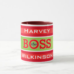 (Your Name) The Boss / Da Boss Mug