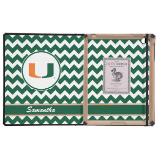 Your Name University of Miami Logo iPad Cases