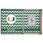 Your Name University of Miami Logo iPad Cases
