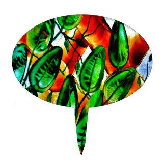 Your Nature, Garden,Custom Oval Cakepick Cake Topper