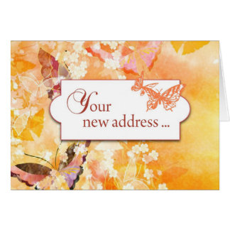 Your New Address Butterflies Stationery Note Card