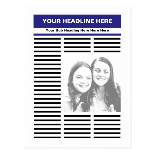 Your Newspaper Postcards