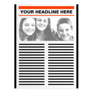 Your Newspaper Postcard