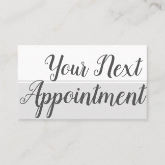 Your Next Appointment | Grey Geometric |
