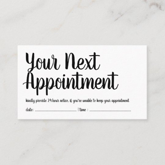 Your Next Appointment - Reminder - Trendy Script