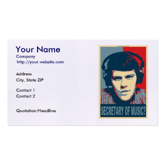 Your Obamicon.Me Business Card Templates