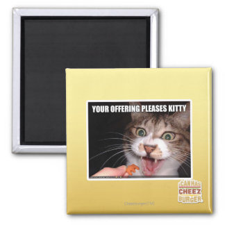 Your Offering Pleases Kitty Refrigerator Magnets