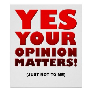 Your Opinion Funny Poster