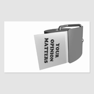 Your Opinion Matters Rectangle Stickers