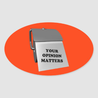 Your Opinion Matters Sticker