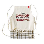Your Opinion Was Not In The Recipe Heart Apron at Zazzle