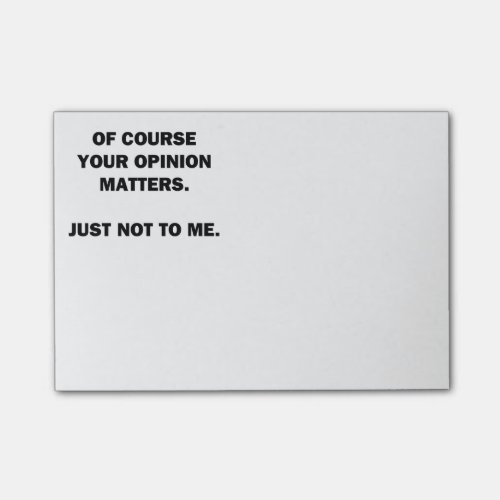 Your Opinon Matters Post-it Notes