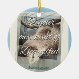 Your own kind of beautiful ceramic ornament