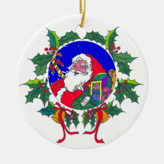 Your own Message Santa Ornament