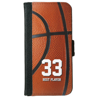 Your own number and text | Basketball Sport Gifts iPhone 6 Wallet Case