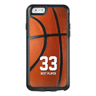 Your own number and text | Basketball Sport Gifts OtterBox iPhone 6/6s Case
