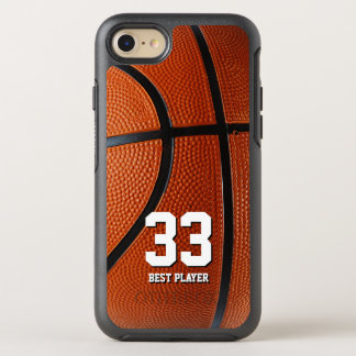 Your own number and text | Basketball Sport OtterBox Symmetry iPhone 8/7 Case