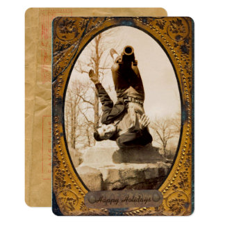 Your Own Photo 5x7 Vintage Frame Personal Greeting Card