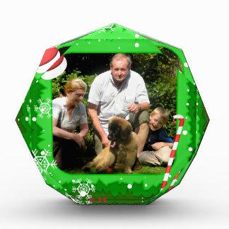 Your own photo in a Christmas frame! - Acrylic Award