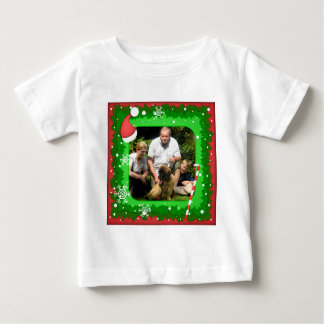 Your own photo in a Christmas frame! - Baby T-Shirt