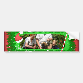 Your own photo in a Christmas frame! - Bumper Sticker