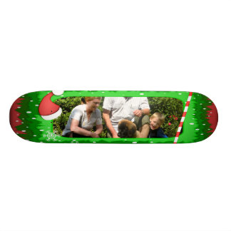 Your own photo in a Christmas frame! - Skateboard Deck