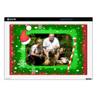 Your own photo in a Christmas frame! - Skin For Laptop