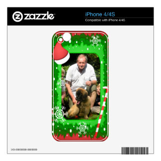 Your own photo in a Christmas frame! - Skin For The iPhone 4S