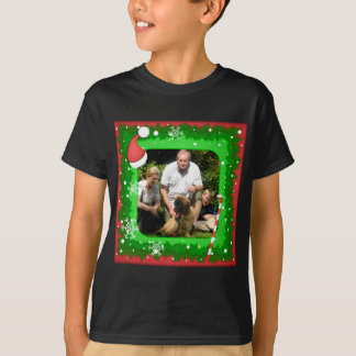 Your own photo in a Christmas frame! - T-Shirt