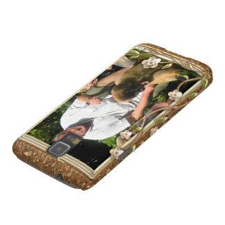 Your own photo in a Golden Flowers Frame! - Samsung Galaxy Nexus Case