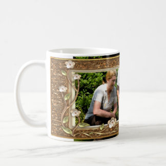 Your own photo in a Golden Flowers Frame! - Coffee Mug