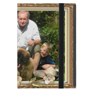 Your own photo in a Golden Flowers Frame! - Cover For iPad Mini