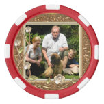 Your own photo in a Golden Flowers Frame! - Poker Chips Set