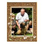 Your own photo in a Golden Flowers Frame! - Postcard