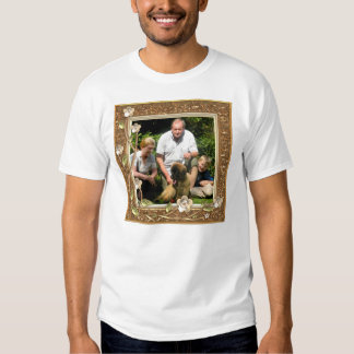 Your own photo in a Golden Flowers Frame! - Tee Shirt