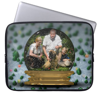 Your own photo in a Snowglobe Frame! - Computer Sleeve