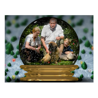 Your own photo in a Snowglobe Frame! - Postcard