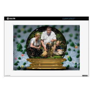 """Your own photo in a Snowglobe Frame! - Skins For 15"""" Laptops"""