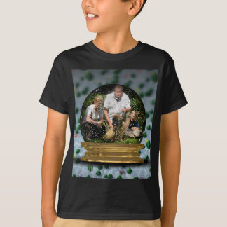 Your own photo in a Snowglobe Frame! - T-Shirt