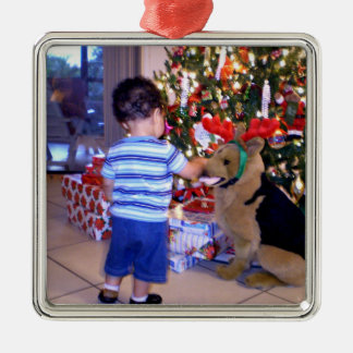 Your Own Photo, Ready to Customize Metal Ornament