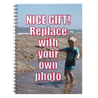 Your Own Photo Upload Best Personal Picture Gift ! Notebook