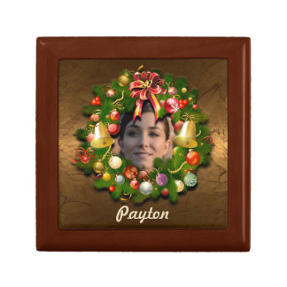 Your Own Picture Customized Xmas Wreath Gift Box