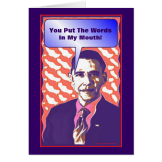 Your Own Talking Obama Pop Art Satire Product Card