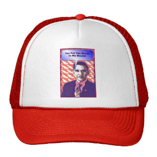 Your Own Talking Obama Pop Art Satire Product Mesh Hats