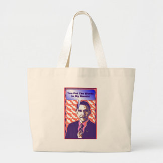 Your Own Talking Obama Pop Art Satire Product Jumbo Tote Bag
